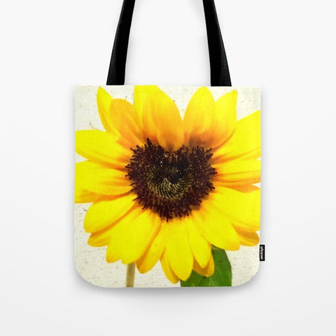 トートバッグ Heart shape Love Yellow sunflower