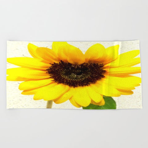 タオル Heart shape Love Yellow sunflower
