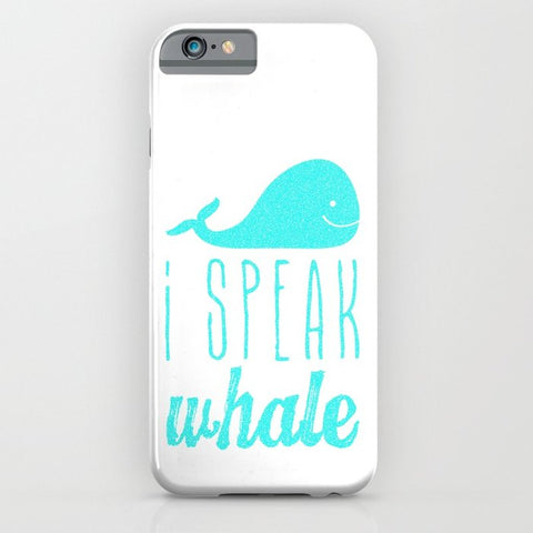 スマホケース I Speak Whale II by M Studio