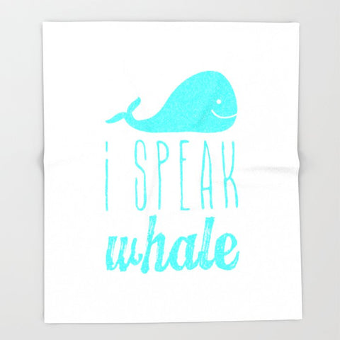 ブランケット I Speak Whale II by M Studio