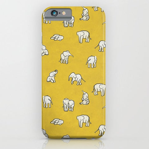 スマホケース indian baby elephants by Estelle F