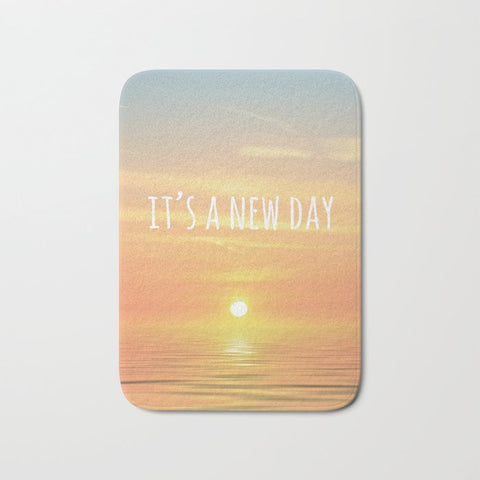 バスマット It's A New Day (Typography) by ALLY COXON
