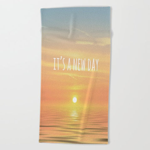 タオル It's A New Day (Typography) by ALLY COXON