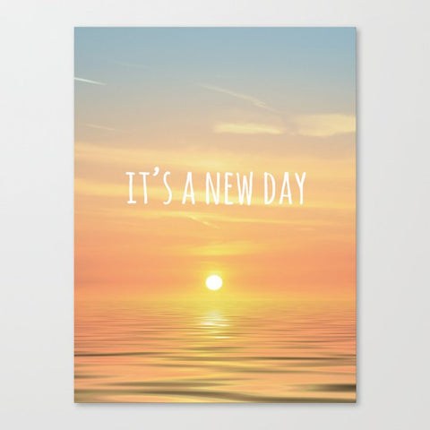 キャンバスアートプリント It's A New Day (Typography) by ALLY COXON