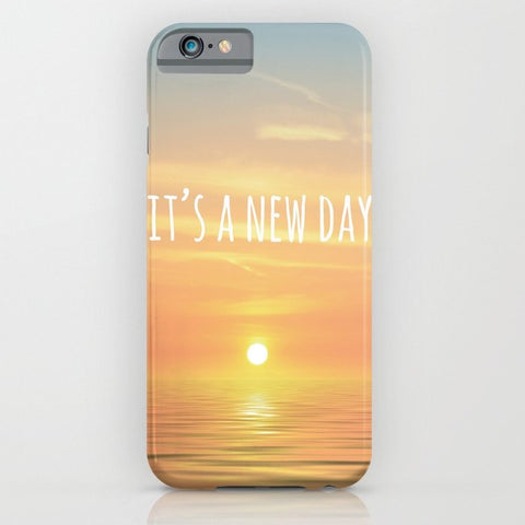 スマホケース It's A New Day (Typography) by ALLY COXON