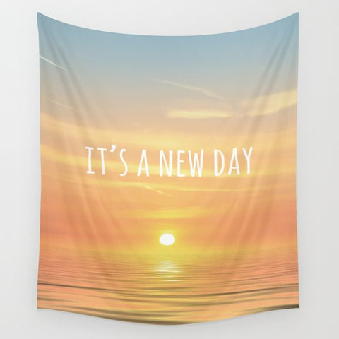 タペストリー It's A New Day (Typography) by ALLY COXON