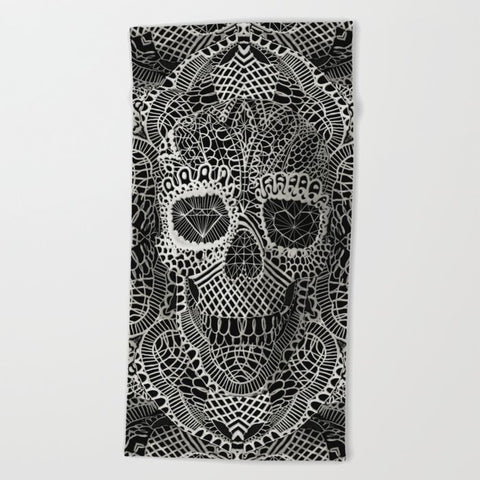 タオル Lace Skull by Ali GULEC
