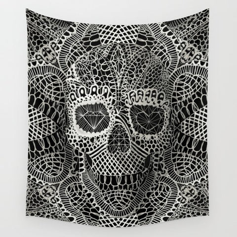 タペストリー Lace Skull by Ali GULEC