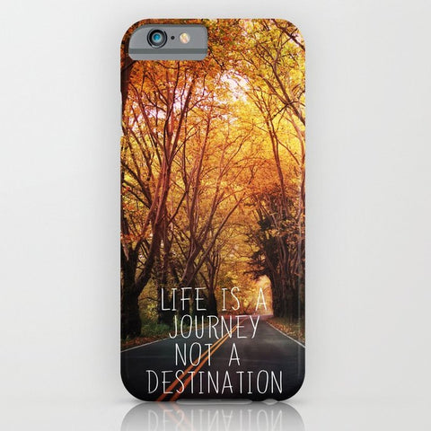 スマホケース Life is a journey not a destination by Sylvia Cook