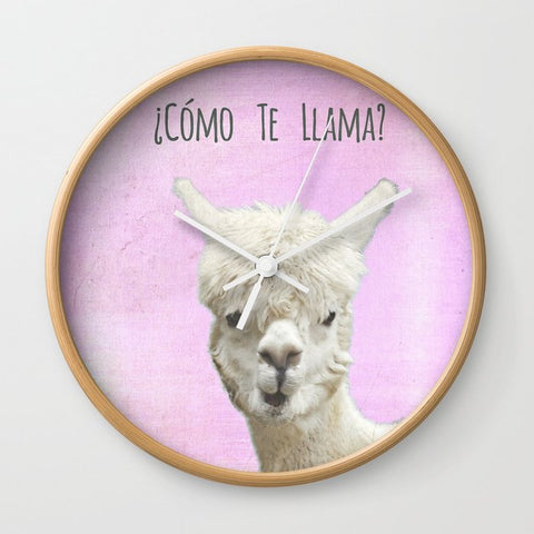 壁掛け時計 Llamas ? by Monika Strigel