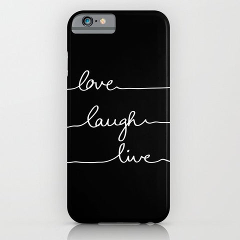 スマホケース Love Laugh Live (Black) by Mareike B?hmer Graphics
