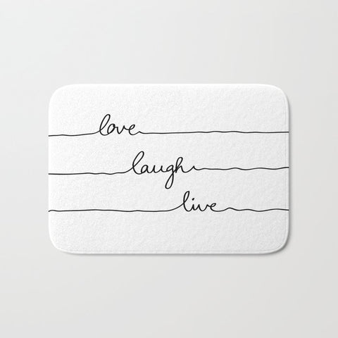 バスマット Love Laugh Live by Mareike Böhmer Graphics