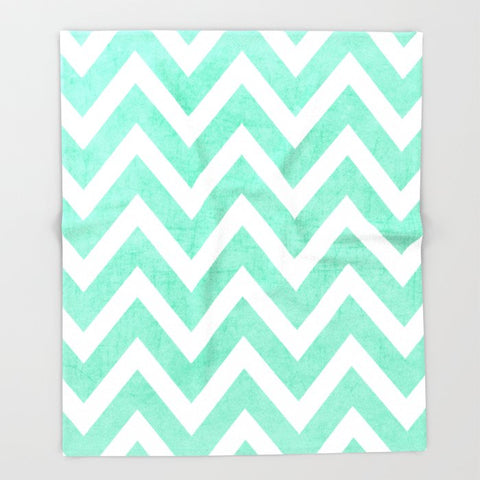 ブランケット mint chevron by her art