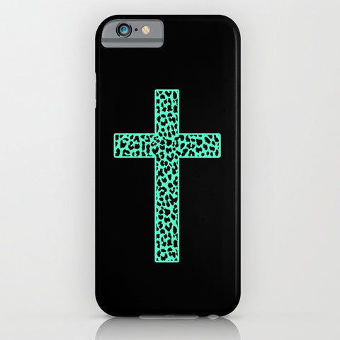 スマホケース Mint Leopard Cross by M Studio