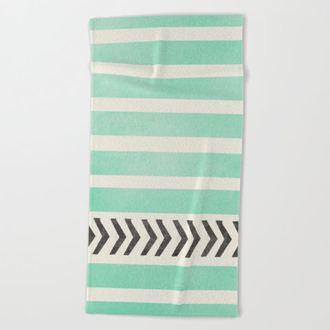 タオル MINT STRIPES AND ARROWS by Allyson Johnson