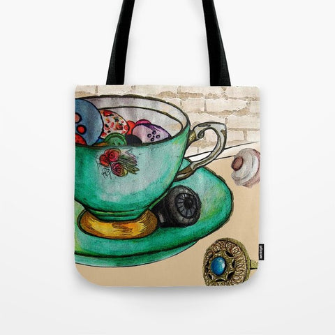トートバッグ MY CUPPA TEA by Yaz Raja Designs