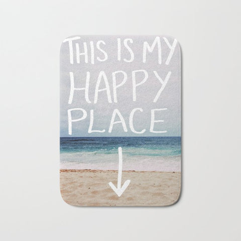 バスマット My Happy Place (Beach) by Leah Flores