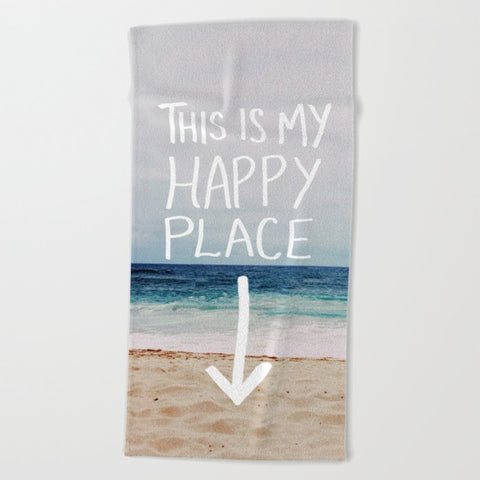 タオル My Happy Place (Beach) by Leah Flores