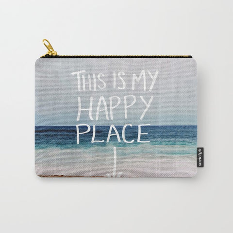 ポーチ My Happy Place (Beach) by Leah Flores