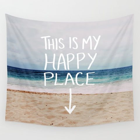 タペストリー My Happy Place (Beach) by Leah Flores