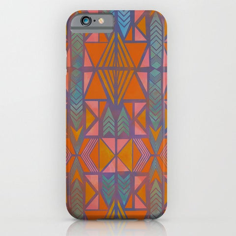 スマホケース Nabu Tribal Orange by Schatzi Brown