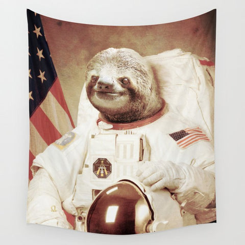 タペストリー Sloth Astronaut by Bakus