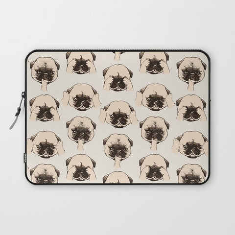 パソコンケース No Evil Pug by Huebucket