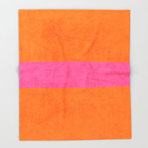 ブランケット orange and hot pink classic by her art