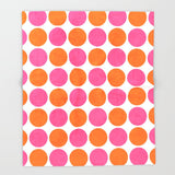 ブランケット orange and hot pink dots by her art