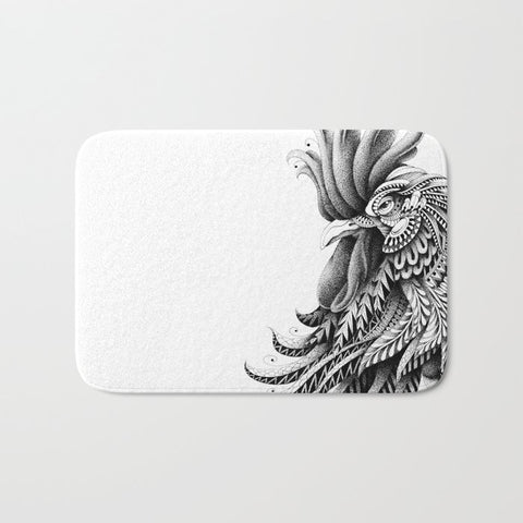 バスマット Ornately Decorated Rooster by BioWorkZ