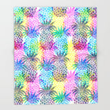 ブランケット Pineapple CMYK Repeat by Schatzi Brown