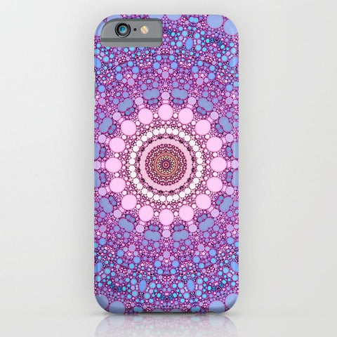 スマホケース pink and blue kaleidoscope by Sylvia Cook Photography