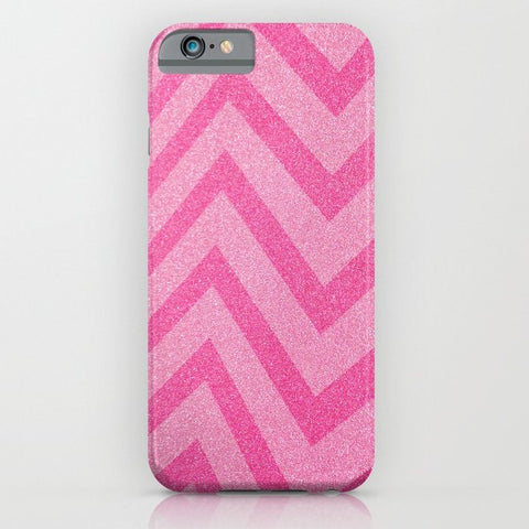 スマホケース pink chevron sparkle by Sylvia Cook Photography