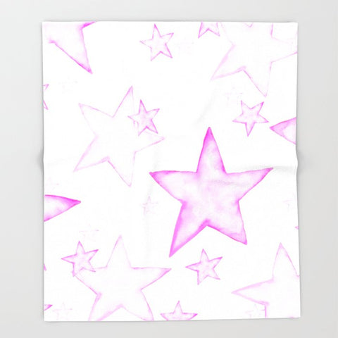 ブランケット PINK STARS by Monika Strigel