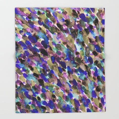ブランケット Purple and Olive by Georgiana Paraschiv