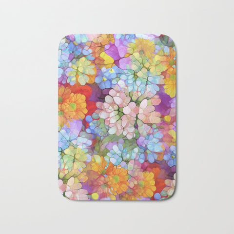 バスマット Rainbow Flower Shower by Joke Vermeer