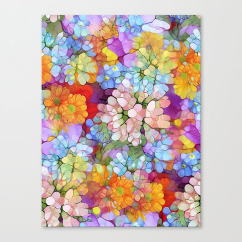 キャンバスアートプリント Rainbow Flower Shower by Joke Vermeer