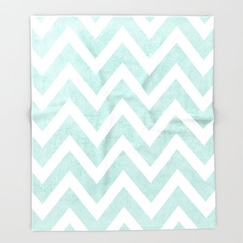 ブランケット robins egg blue chevron by her art