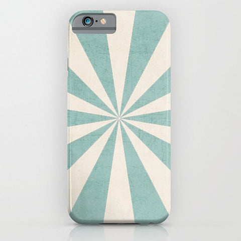 スマホケース robins egg blue starburst by her art