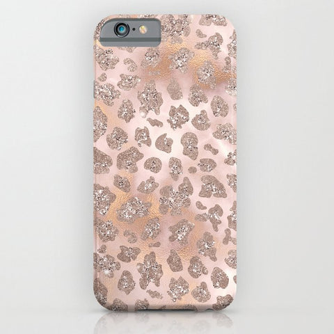 スマホケース Rosegold Blush Leopard Glitter by  Better HOME