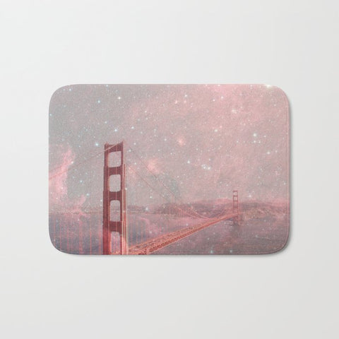 バスマット Stardust Covering San Francisco by Bianca Green