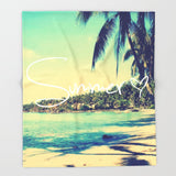 ブランケット Summer Love Vintage Beach by RexLambo