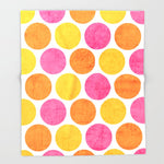 ブランケット summer polka dots by her art