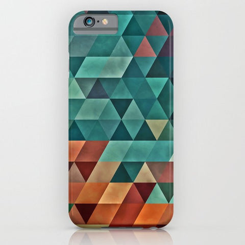 スマホケース Teal/Orange Triangles by spires