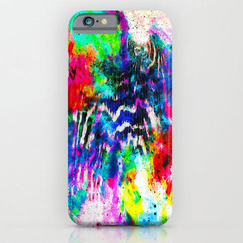 スマホケース Technicolor Zebra Splatter by Caleb Troy