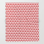 ブランケット triangles - red and white by her art