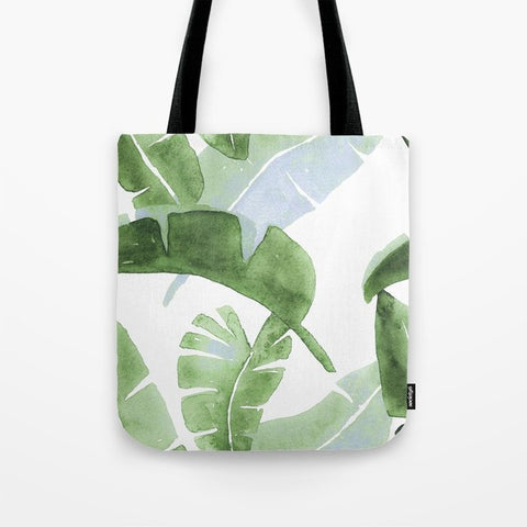トートバッグ Tropical Leaves Green And Blue