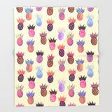 ブランケット Tutti Frutti - Pineapple Print by Schatzi Brown