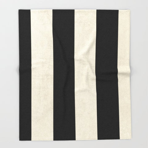 ブランケット vintage black stripes by her art