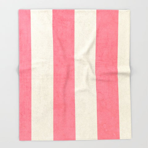 ブランケット vintage coral stripes by her art
